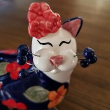 Amy Lacombe WhimsiClay Art Standing Cat - Dee Dee and Monarch | 2003 New in Box