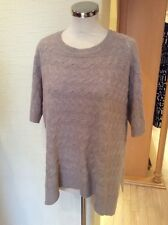 Gerry Weber Sweater Size 14 BNWT Beige Cable Knit Boxy RRP £75 Now £23