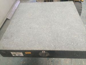 Granite engineering inspection plate Grade 0, 600 x 600 x 100mm, £150 plus VAT