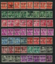 United States Precancels on 1954 Famous Americans to 50¢  (5), 56 diff, F/VF
