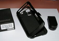 Aluminum case for HTC Rhyme S510b, all black with removeable swiveling belt clip