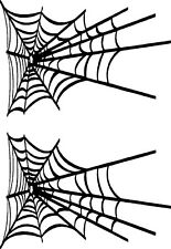 "Spider Web Vinyl Decals Stickers (2 - 16"" x 11"" )"