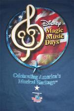 Disney World Magic Music Days TShirt Size XLarge Blue Free Shipping - 0214L91