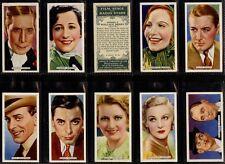 More details for full set, ardath, film stage & radio stars 1935 (w16f074-181)
