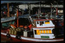 081097 Fishing Boats In Phuket Harbour A4 Photo Print