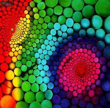 "ABSTRACT ART  MOLECULAR GEOMETRY 48X48 "" ORIGINAL OIL PAINTING"