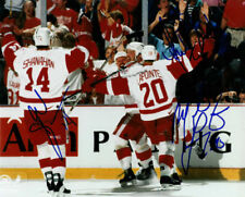 BRENDAN SHANAHAN & MARTIN LAPOINTE SIGNED 98' CUP 8X10