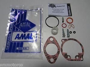AMAL CONCENTRIC 600 900 CARB CARBURETOR OVERHAUL REBUILD KIT BSA TRIUMPH 622/238