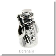 Authentic Trollbeads Sterling Silver 11327 Snowman :1 RETIRED