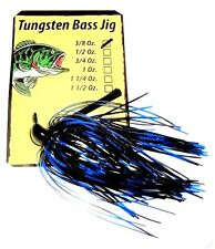 New listing Durhams Tackle- Tungsten Flipping Bass Jig 3/8oz Black & Blue