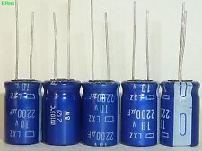 10pcs 2200uF 10V2200UF 12.5X20mm NCC Nippon LXZ Ultra LOW IMPEDANCE Capacitor