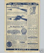 1907 PAPER AD King 20th Century Air Rifle Dart BB Gun
