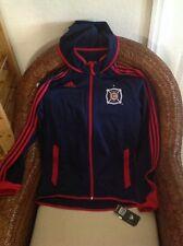 Chicago Fire Adidas MLS  soccer Presentation Hooded Jacket Size S Men's