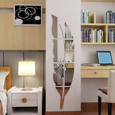 DIY Removable Home Room Wall Mirror Sticker Art Vinyl Mural Decor Decal Gift Hot