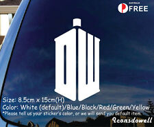 Doctor Who Tardis BBC Vinyl Window Decal Sticker Car Truck Laptop-