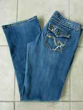 Vanity Womens Jeans Size 29 x 33 Distressed Flap Pockets