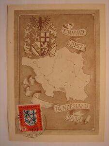 (BU3321) SAARLAND BUNDESLAND SAAR 1957 GERMANY maximum maxi card postcard