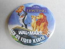"VINTAGE 3"" PROMO PINBACK BUTTON #92-204 - DISNEY - LION KING AT WAL-MART"