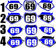 2000-2001 Yamaha YZ125 250 YZ 125 250 Number Plates Side Panels Graphics Decal