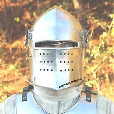 Medieval Barbuta Helmet Knight Crusader Armour Saxon Replica Costume Helmet