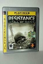 RESISTANCE FALL OF MAN GIOCO USATO SONY PS3 EDIZIONE ITALIANA PLATINUM GD1 44919