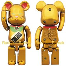 Medicom Bearbrick Skytree 200% Chogokin Gold Lucky Cat Maneki Neko #2 Be@rbrick
