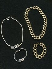 Silvertone and Goldtone Necklaces and Bracelets