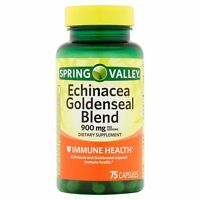 Spring Valley Echinacea Goldenseal Blend 900 mg 75 capsules