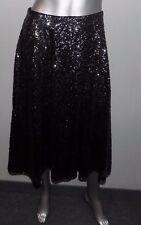 LANE BRYANT NEW Black/Silver Sequin Elastic Waist Lined Skirt Plus sz 22/24W