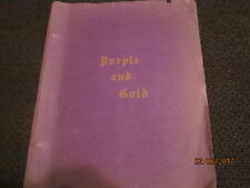 1945 Cylinder High School, Cylinder, Iowa Purple and Gold Yearbook Annual