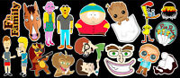 17 Adult Cartoon Vinyl Sticker Pack #1