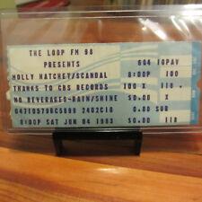 MOLLY HATCHET 1983 Ticket Stub; Signed Chicago Radio DJs Patti Haze/Bill Evans