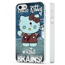 Hello Kitty Funny Zombie Art WHITE PHONE CASE COVER fits iPHONE
