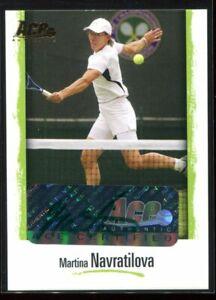 2008 Ace Authentic Grand Slam Legends Autographs Bronze Martina Navratilova Auto