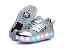 Roller Skate Shoes Girls Boys Roller Shoes Kids Wheel Shoes LED Size 13 Euro 31