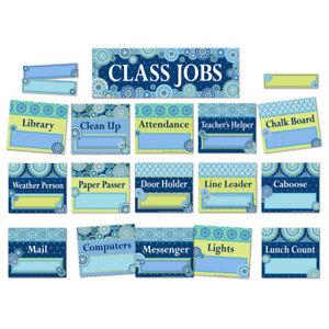 EU 847776 Blue Harmony Job Chart Mini Bulletin Board Set Classroom Decorations