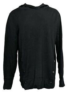 Anybody Women's Sz M French Terry Sweatshirt w/ Side Snaps Black A367681