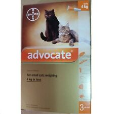 6 x 0.4mL ADVOCATE FOR KITTENS AND SMALL CATS UP TO 4KG Flea Worms Exp.11/2018