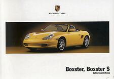 Porsche 986 Boxster,boxster s Instrucciones Servicio,MANUAL DE INSTRUCCIONES,MJ.