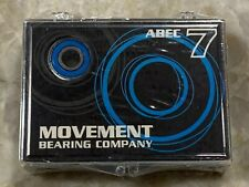 Movement Bearing Co Abec 7 Skateboard 8-Pack Bearing Kit w/Spacers & Washers New