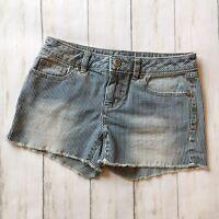 LC Lauren Conrad Womens Railroad Blue and White Striped Blue Jean Shorts Size 2