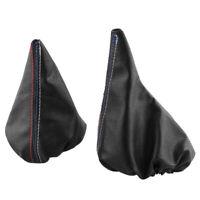 Gear Stick/Handbrake Boot Shift PU Leather For BMW 3 Series E36 E46 M3 Black