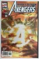 Avengers 1 Sunburst Variant Signed George Perez Heroes Reborn Kurt Busiek NM