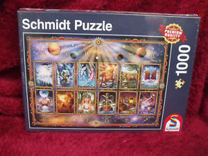 Schimdt 1000 Piece Jigsaw Puzzle Signs Of The Zodiac Hard To Find