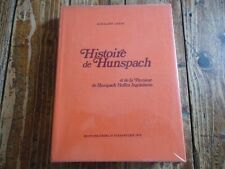 ALSACE LORRAINE - HISTOIRE DE HUNSPACH - GERST PAROISSE STRASBOURG ARMOIRIE 1975
