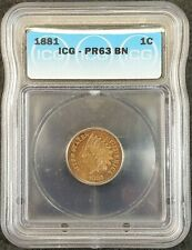 1881 Indian Head Proof Cent ICG PR63 BN 1192660301 Exquisite Coin Rare