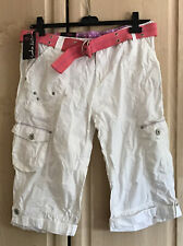 Lovely White Crop Jeans By Voodoo Doll Size 16 Bnwt