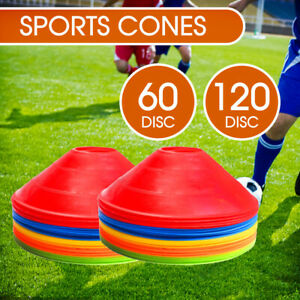 Fitness Exercise Sports Training Discs Markers Cones Soccer Rugby 60/120 Pack