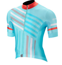 NEW Capo Cycling GS Short Sleeve Jersey| Blu-Red| Crafted in Italy| Men's XL