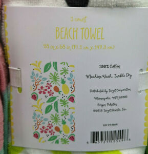 """Bullseye's playground Target Beach Towels New with Tag 28"""" x 58"""" CHOICE!!!"""